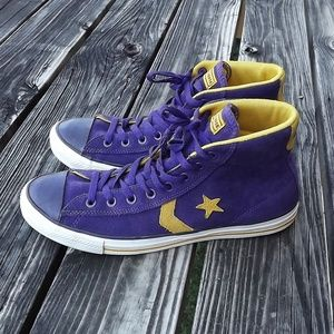Rare Men's High Top Converse Suede Sneakers